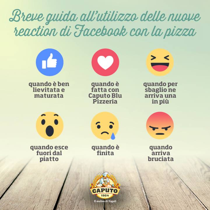 reaction Facebook pizza