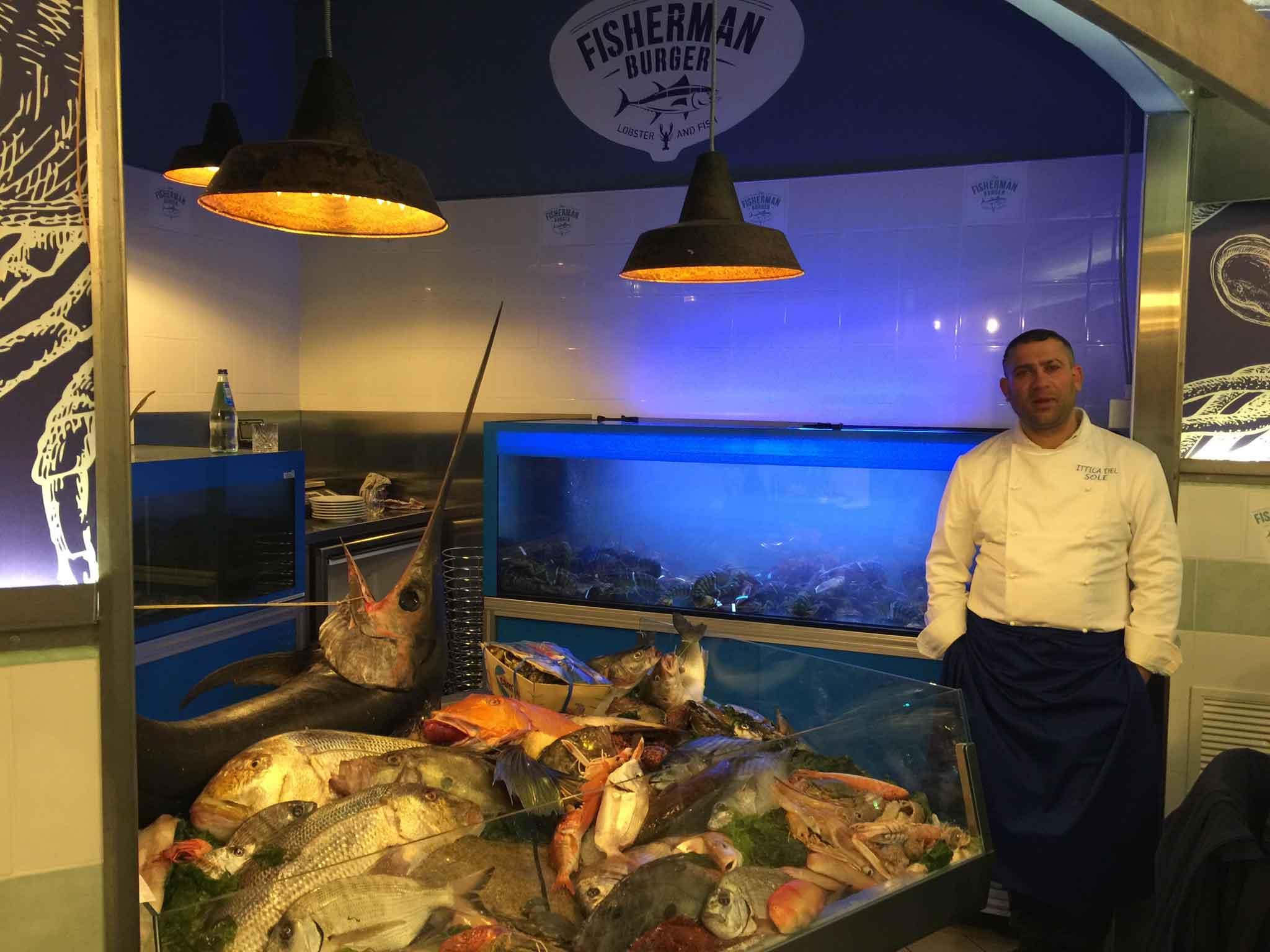Fisherman Burger banco pesce