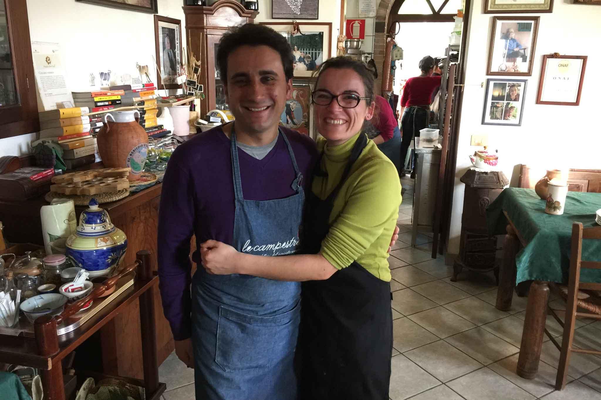 Manuel Lombardi e la moglie