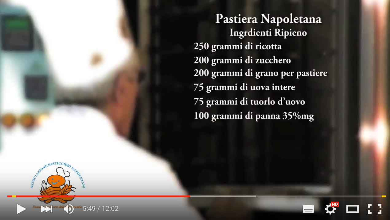 Pastiera napoletana ingrediente panna