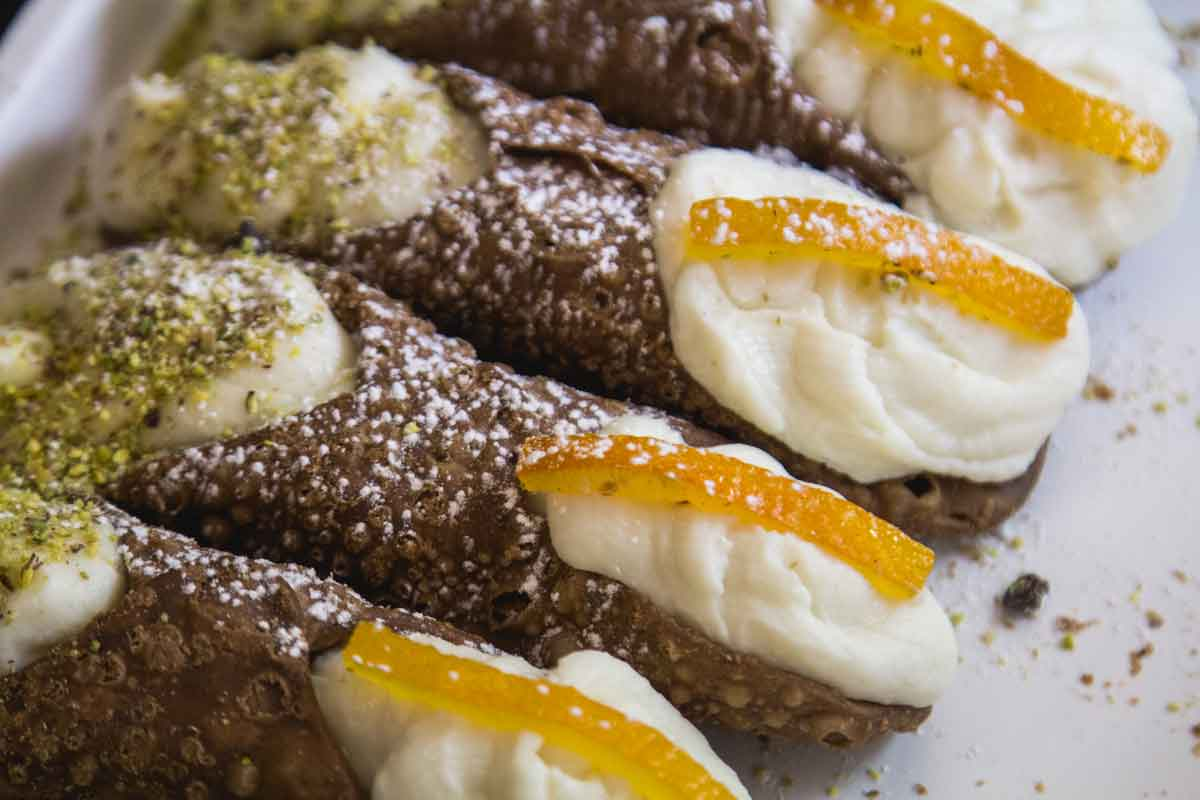 cannoli siciliani arancia pistacchio