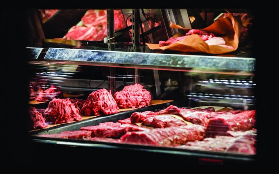 carne in vetrina