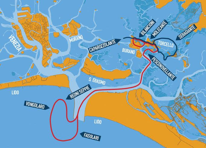 mappa pescaturismo Venezia