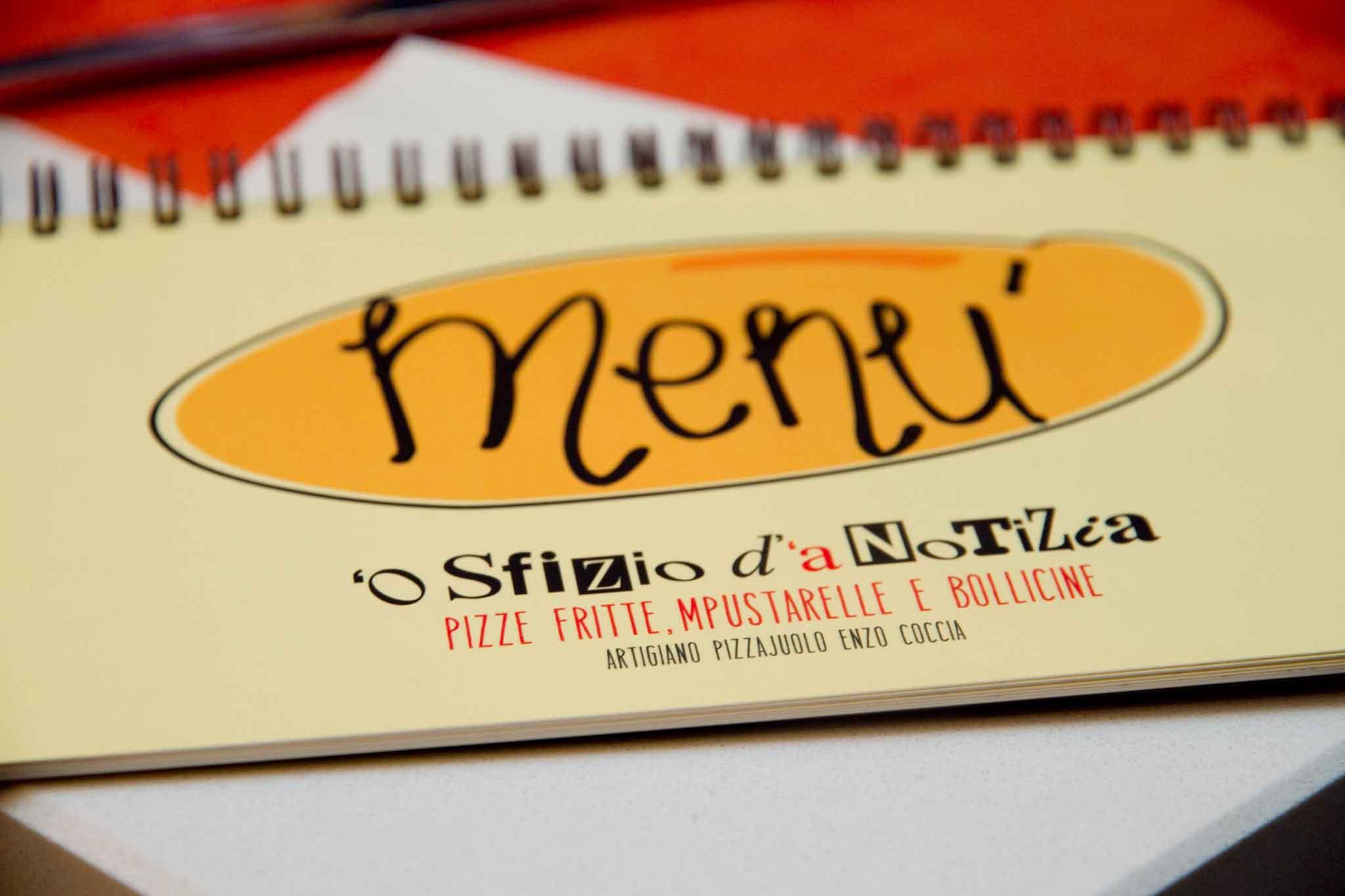 menu 'o sfizio d''a notizia Napoli