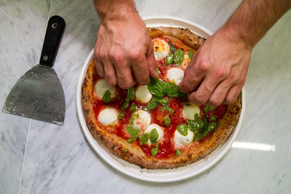pizza margherita pesto basilico