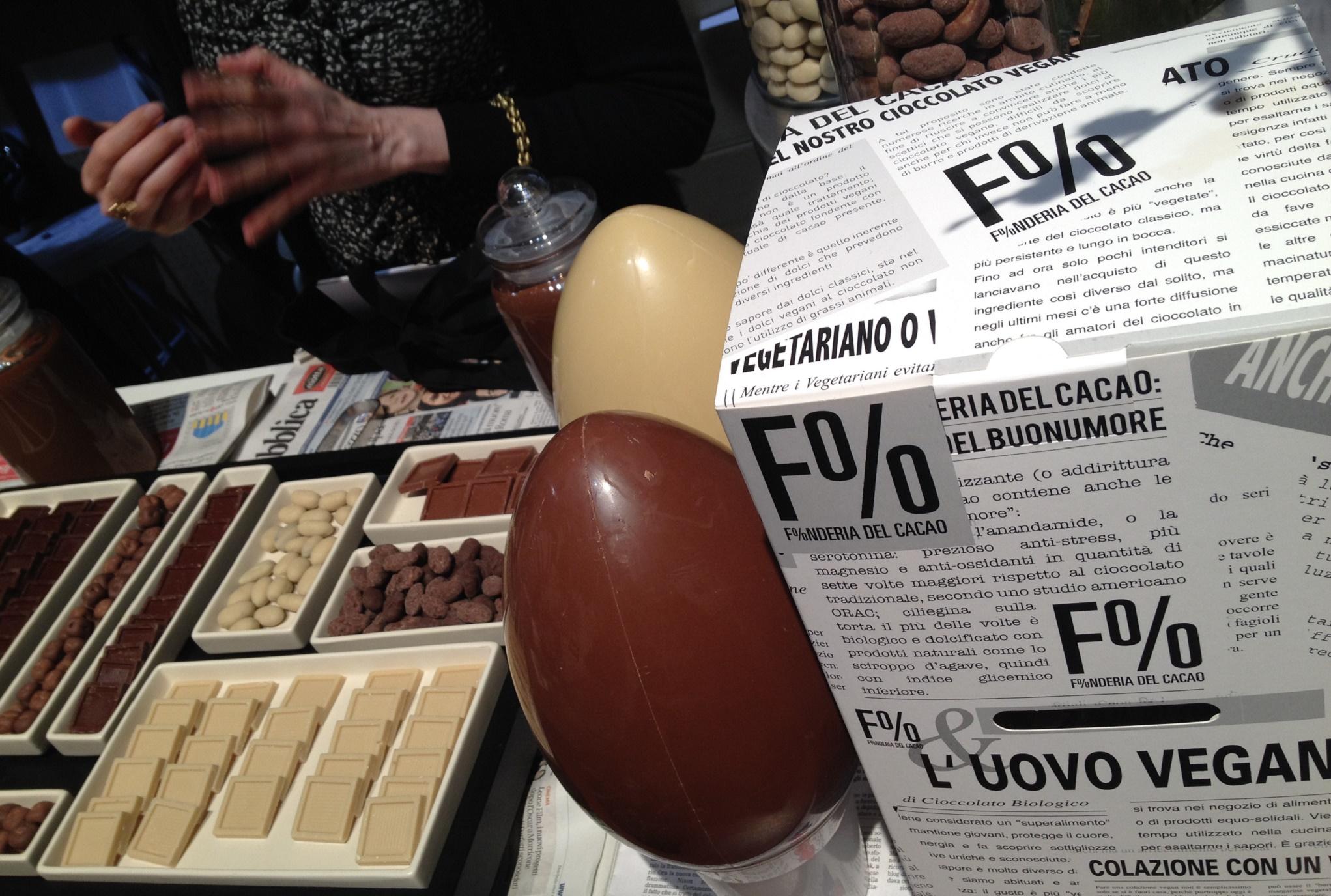 uovo pasqua vegano Fonderia del cacao taste 2016