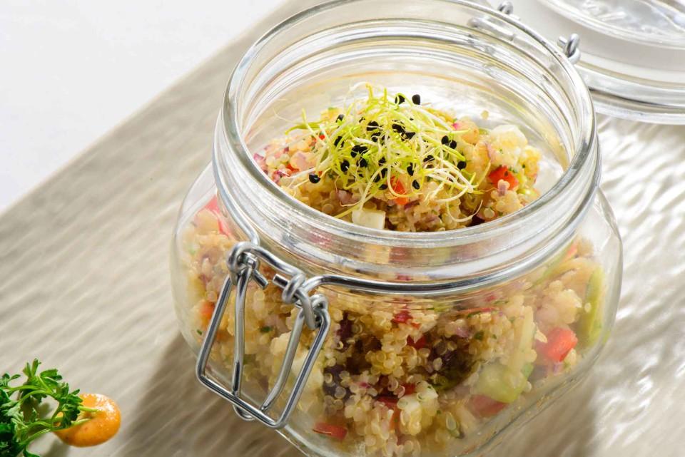 Solterito de Habas con Quinoa