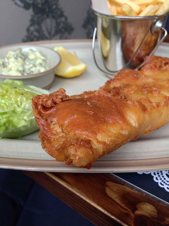cran scallie fish chips Edimburgo