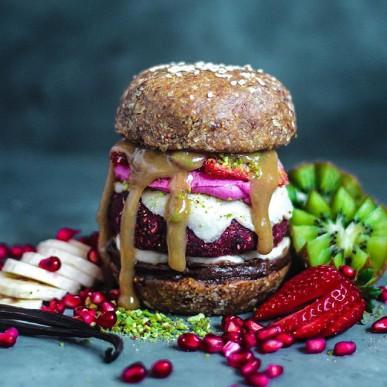 hamburger vegano dessert
