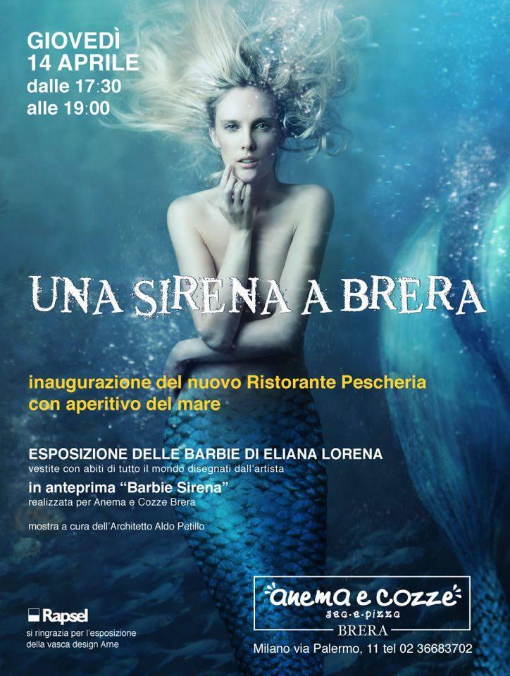 invito Una Sirena a Brera Fuorisalone 2016