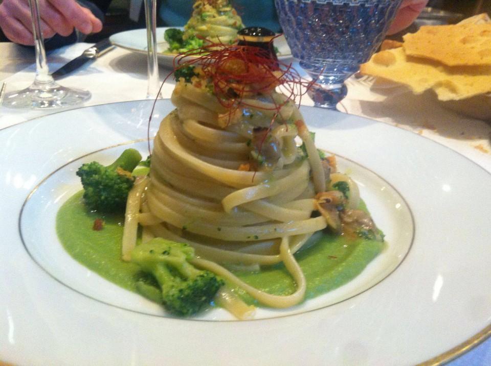 linguine con crema broccoli vongole Giacomo Bistrot