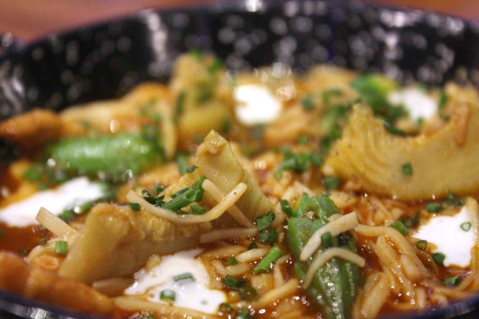 noodles funghi