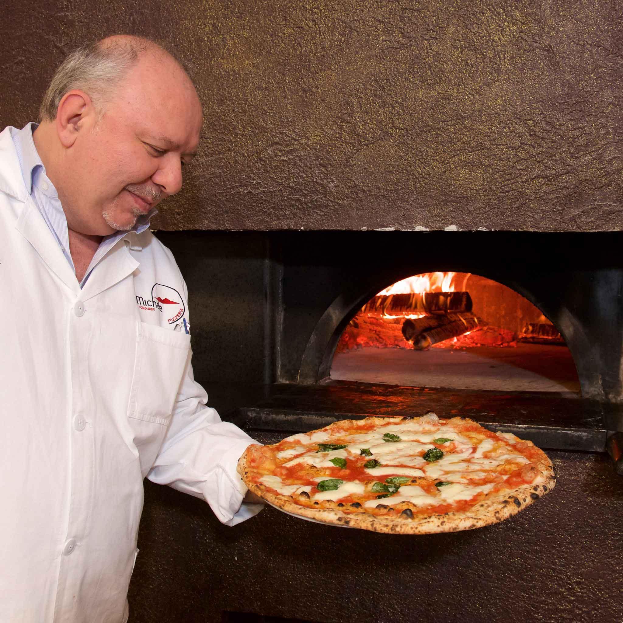 pizza margherita forno legna