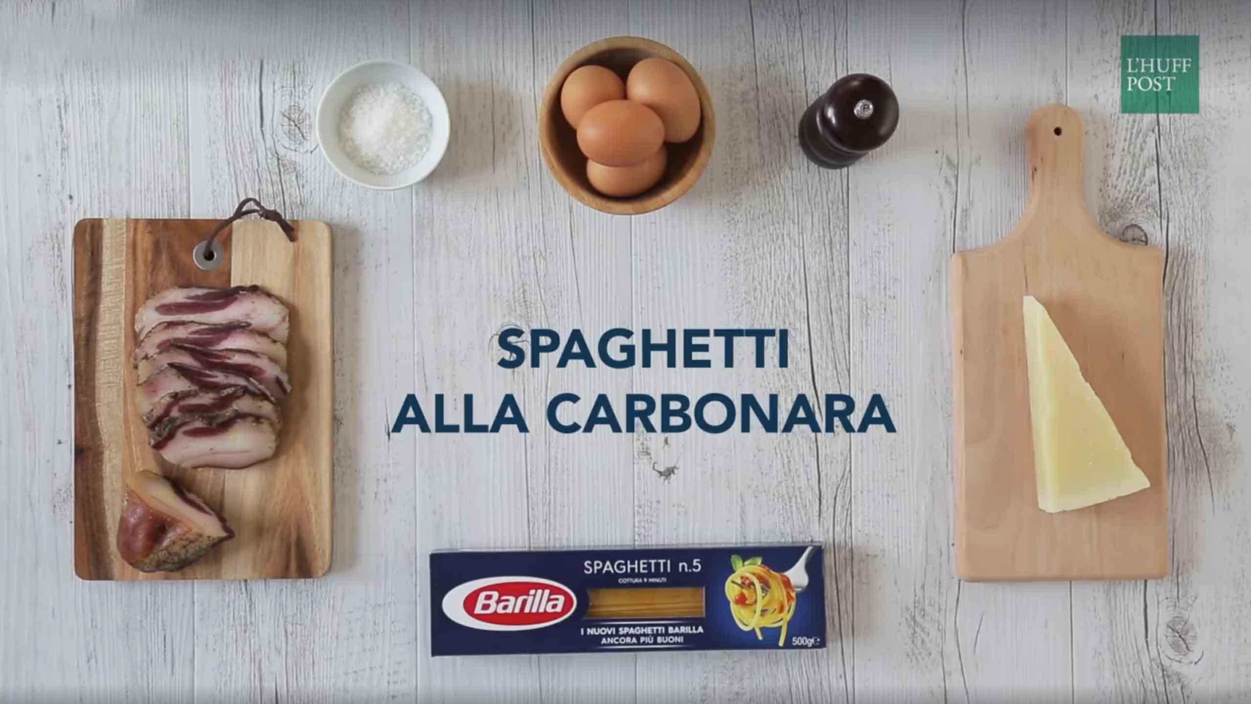 video ricetta carbonara Barilla 1