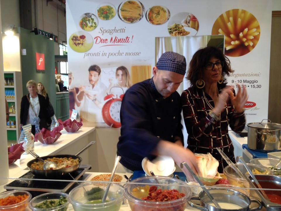 cooking show pasta granoro con orecchiette di farro