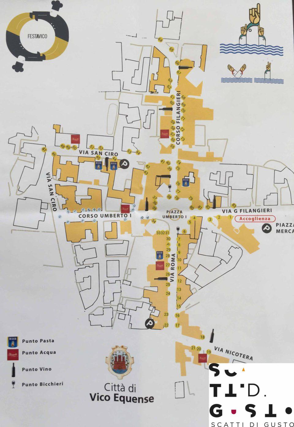 mappa Vico Equense chef emergenti