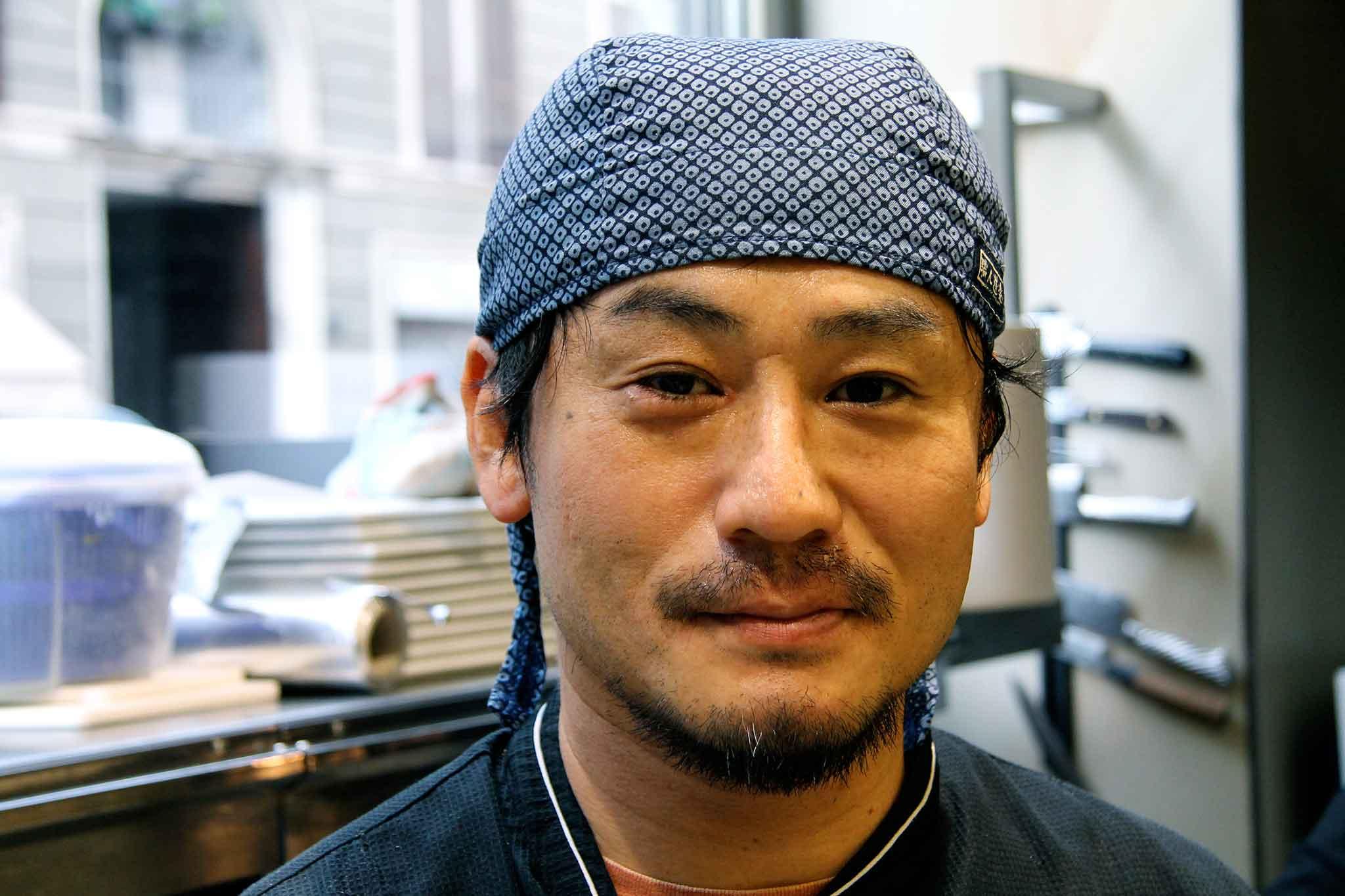 milano gong chef Keisuke Koga