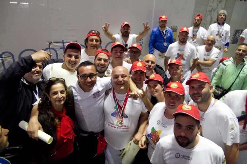pizza più lunga del mondo record Napoli 63