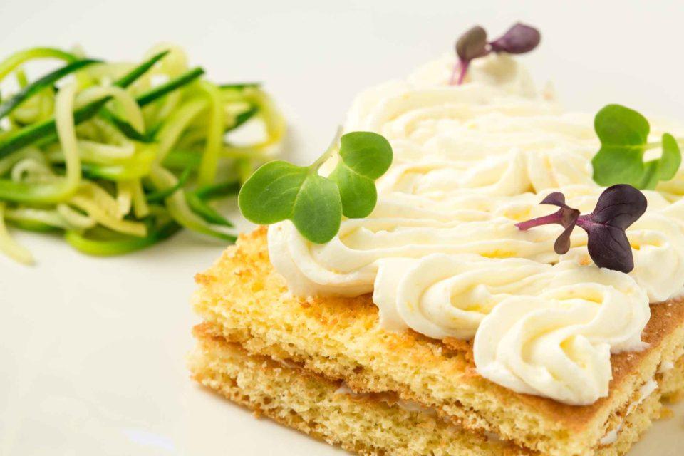 torta glassata di zucchine