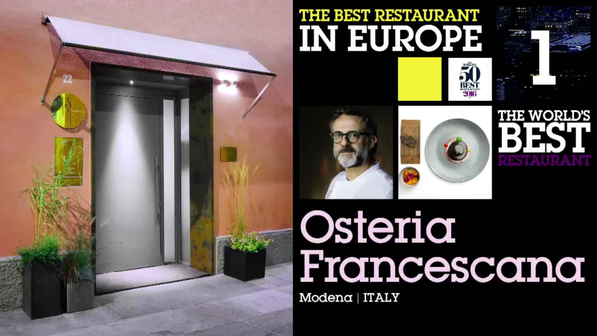 50 Best Restaurants 2016 classifica 1 Massimo Bottura