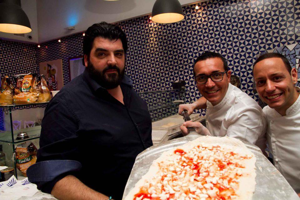 Cannavacciuolo con Gino e Toto Sorbillo