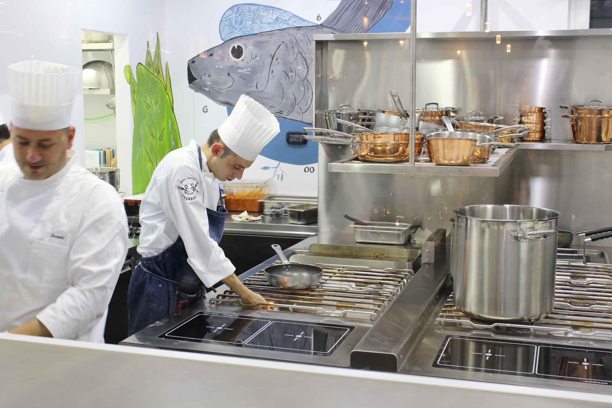 Fourghetti ristorante Barbieri cucina a vista
