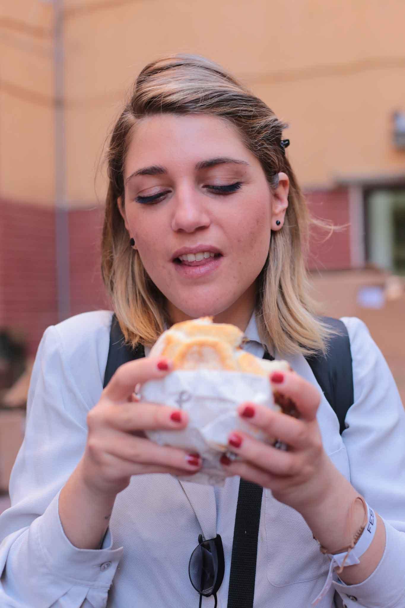 Francesca Spadaro panino Puok e Med