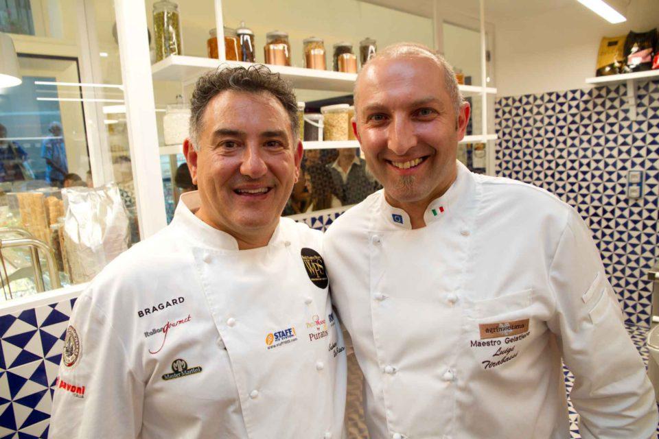 Sal De Riso e Luigi Tirabassi gelati