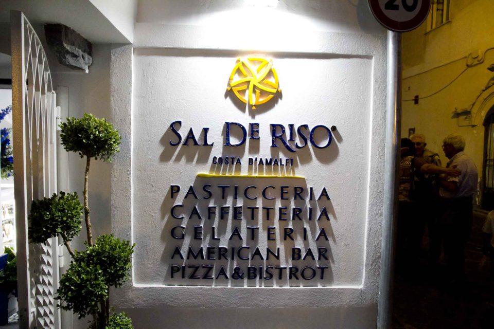Sal De Riso pasticceria caffetteria gelateria american bar pizza bistrot Minori