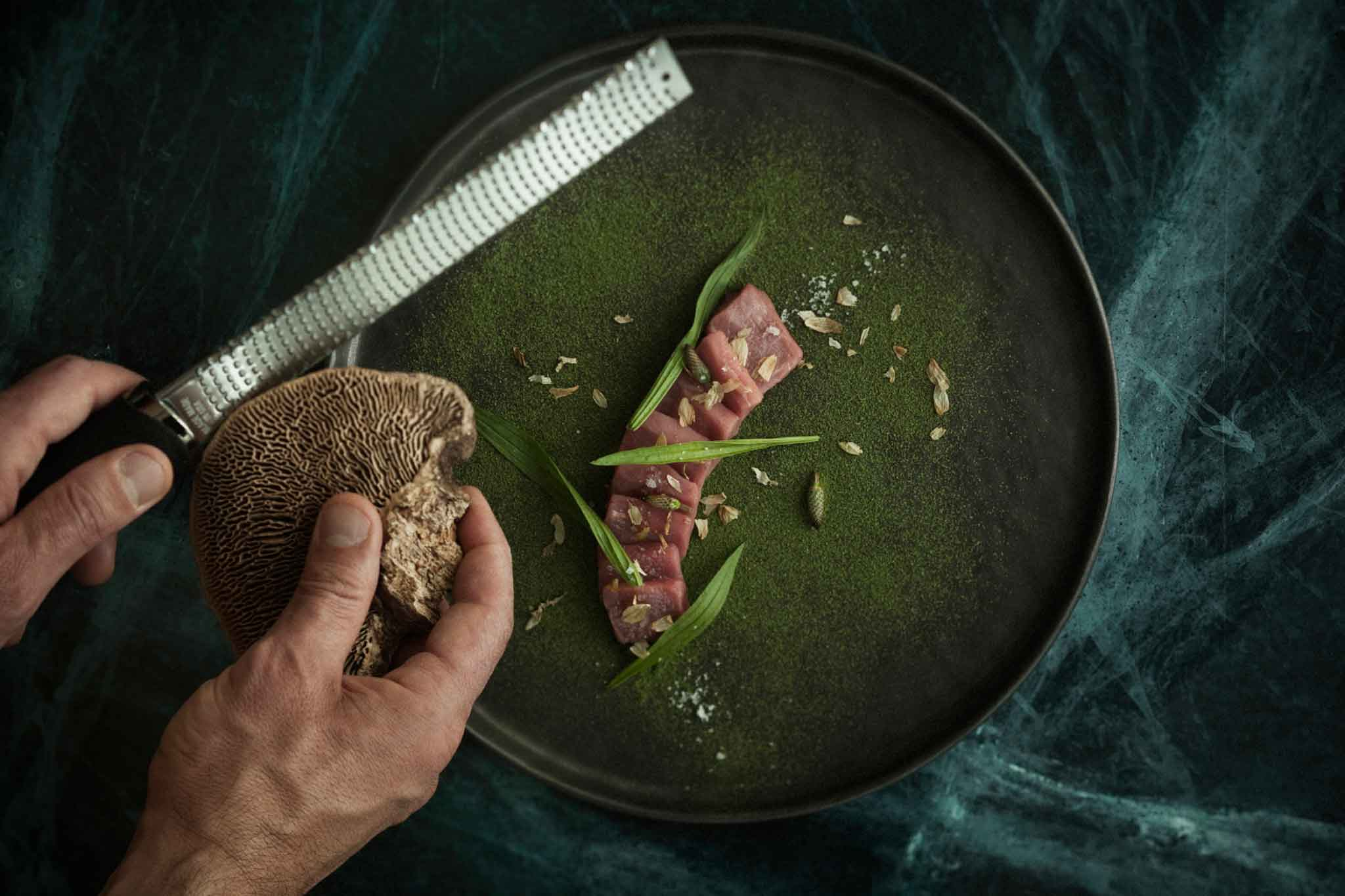 Sashimi di Bianca Piemontese ristorante Piano 35
