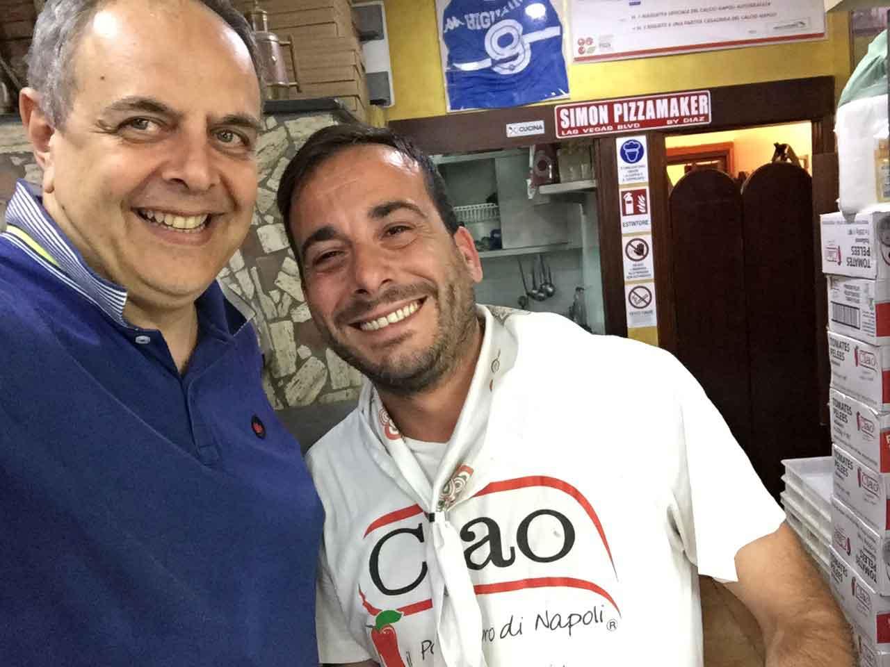 Vincenzo Pagano Simone Fortunato pizzeria Diaz