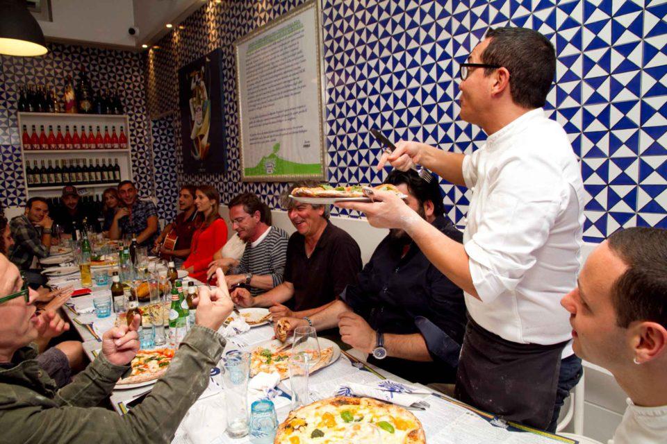 assaggi di pizza Masterchef dcon Gino Sorbillo