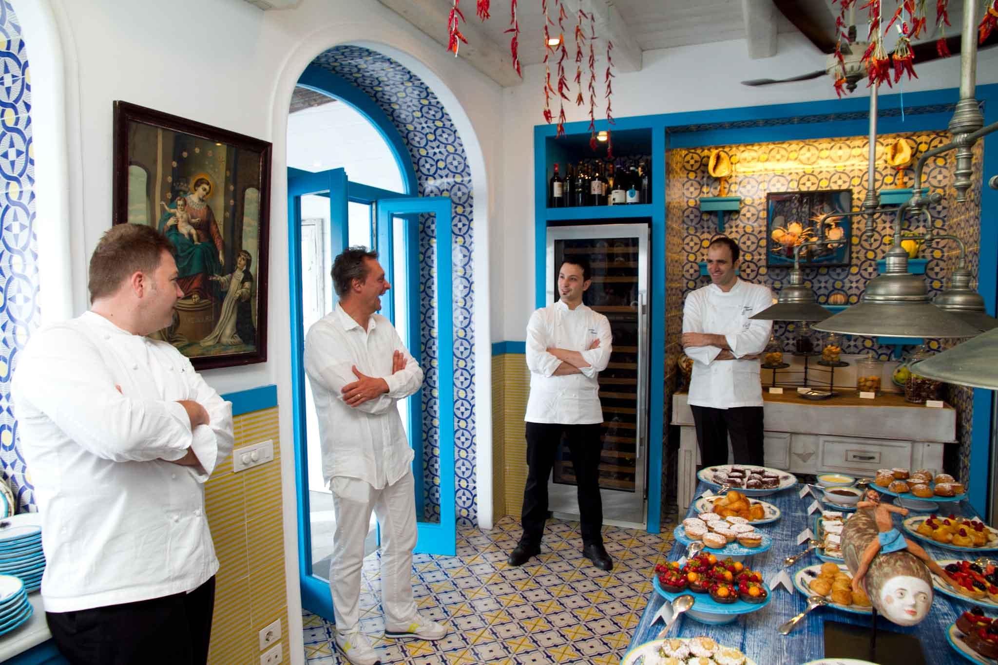 gli chef del Capri Palace Olivo e Riccio