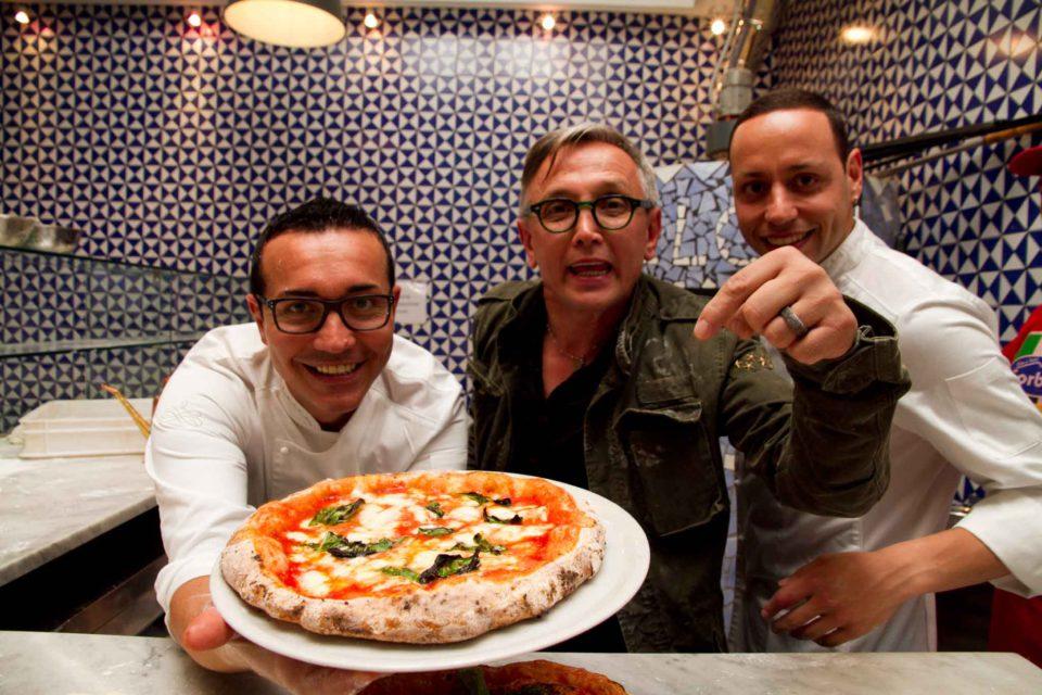 la pizza di Bruno Barbieri con Gino e Toto Sorbillo