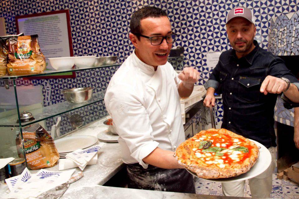 la pizza di Joe Bastianich da Gino Sorbillo