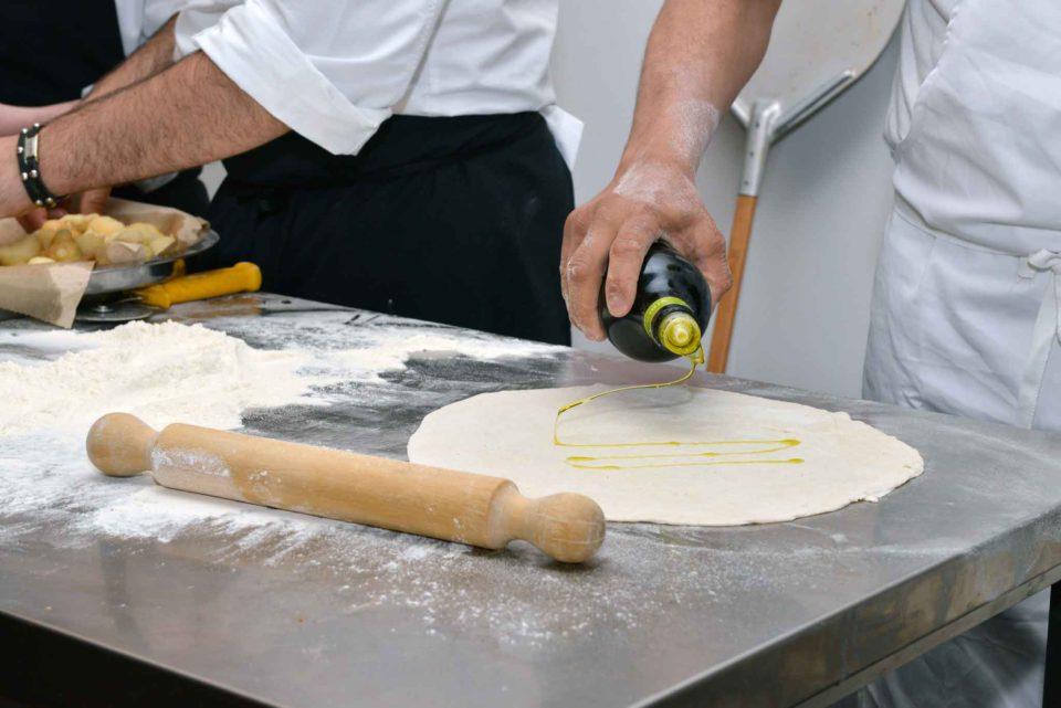 olio su impasto pizza forno elettrico
