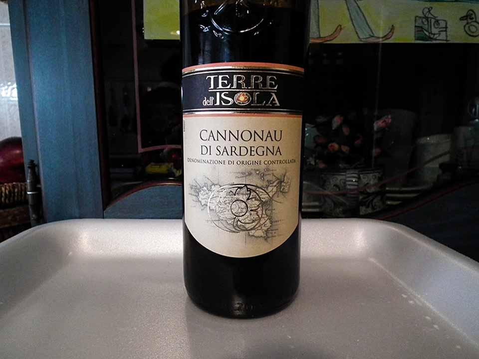 Cannonau di Sardegna con etichetta Sicilia