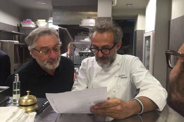 Massimo Bottura e Bob De Niro