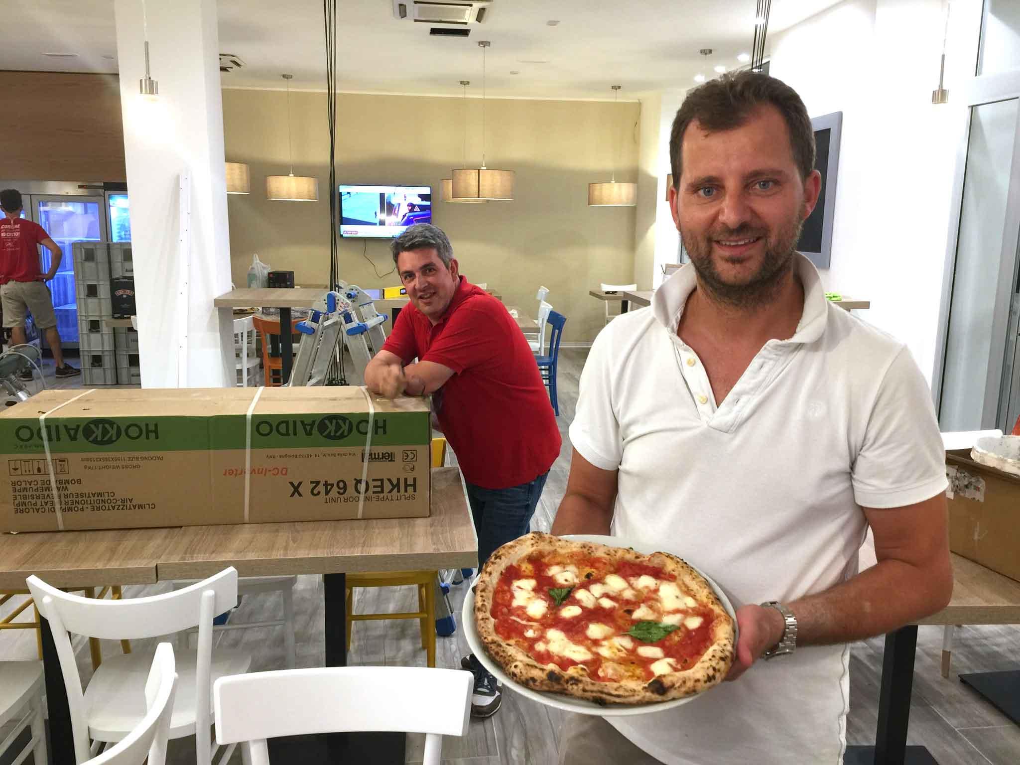 Paolo De Simone e la pizza margherita