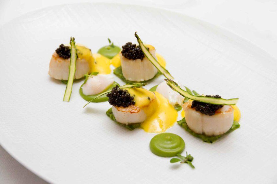 cappesante con asparagi ristorante Olivo Capri