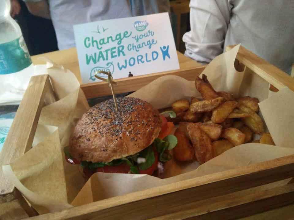 flower burger panino