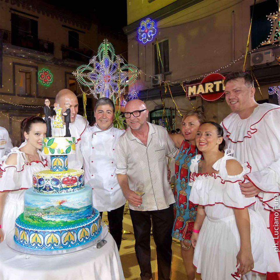 la festa di Dolce e Gabbana a Napoli Borgo Marinari 18