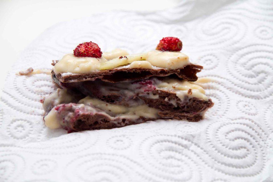 la pizza dessert cioccolato e crema di Salvatore Lioniello