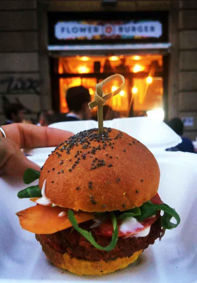 milano haburger flower burger