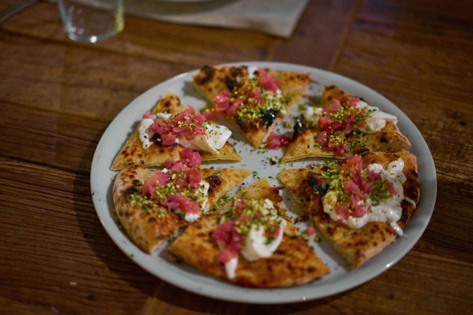pizza tartare tonno Gazometro 38