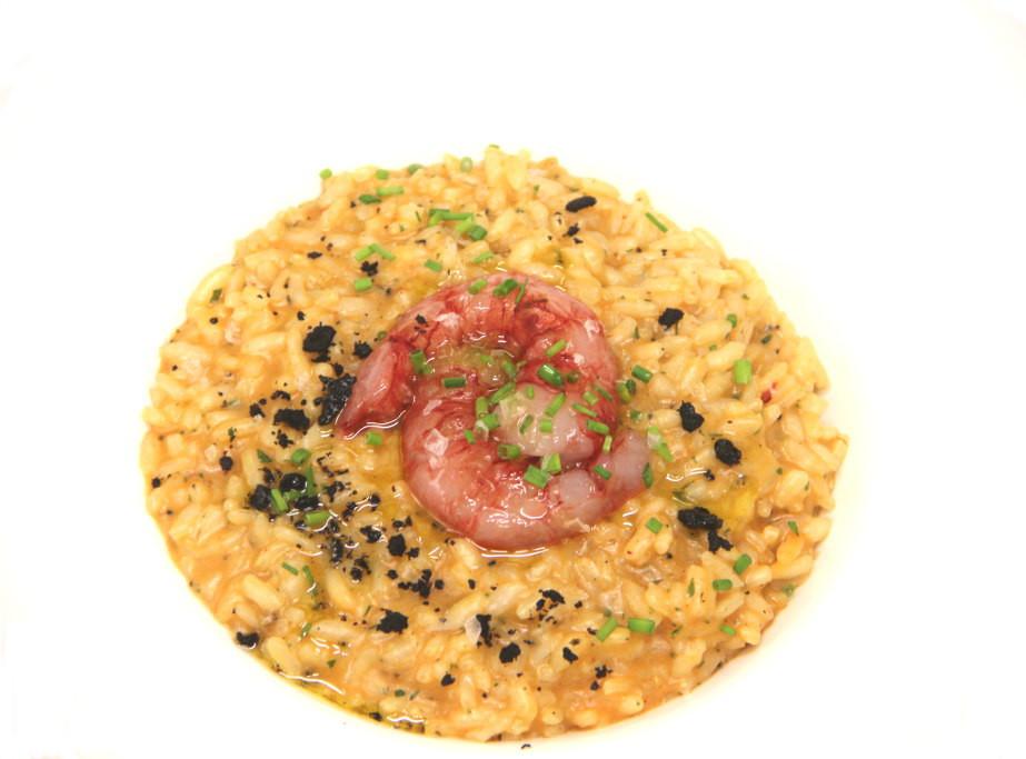 risotto ai gamberi rossi di sicilia e tartufo estivo molo 21 santa marinella
