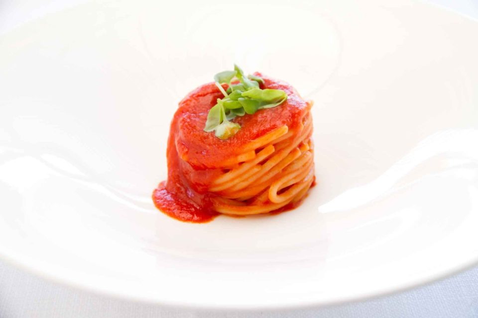 spaghetti pomodoro e basilico Cristoforo Trapani