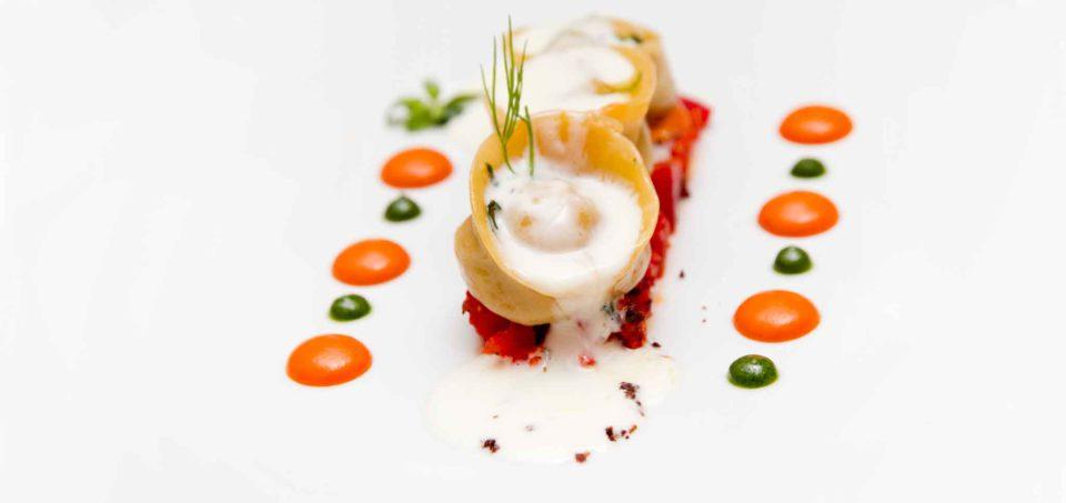 tortelli ristorante L'Olivo Capri Palace due stelle Michelin