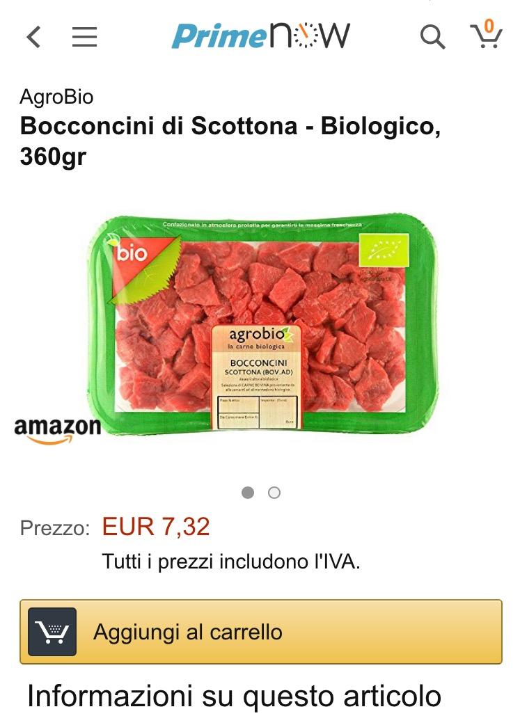 Amazon consegna la carne a domicilio