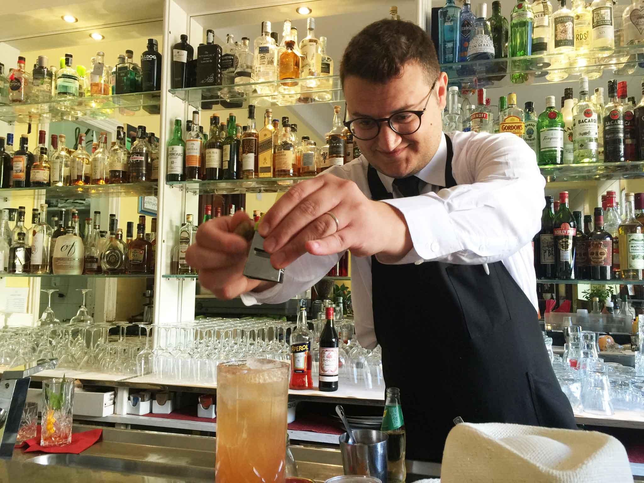 Biagio Castiello barman Don Geppi